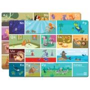 Blissem Zootopia A-Z Alphabet Kids Placemats